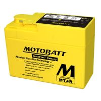MT4R Motobatt AGM Motorcycle Battery 12v 2Ah 45CCA (YTR4A-BS) Buy Online from The Battery Shop